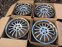 "Brand New 19"" Team Dynamics alloy wheels for Ford Mondeo Focus Volvo C30 V70 Jaguar X S 5x108"