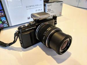 Caméra Olympus Pen Lite E-PL5 + 14-42mm + Plein d'accessoires !