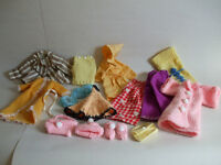 Assortment of hand-made doll clothes
