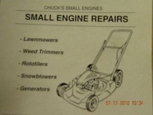 CHUCKS LAWNMOWER  SNOWBLOWER AND SMALL ENGINE REPAIR