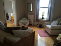 Sublet in 2-bedroom apt with friendly female student