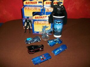 BATMAN, FIGURES AND CARS WITH BOXES, CORGI 1/43 SCALE LIKE NEW