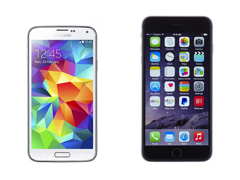 Samsung Galaxy S5 vs. iPhone 6 Plus