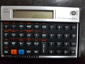 HP 12C Financial Calculator - Real Estate - Banking  with Manual