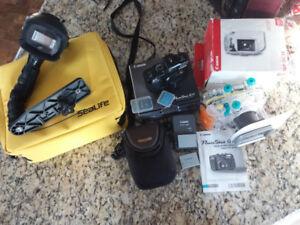 Appareil photo Canon Powershot G11 avec boîtier de plongée