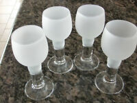 Frosted Glass Shooter Glass Set - Excellent Condition