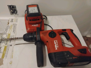 Hilti sds drill w/ 2 batteries, charger