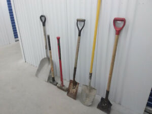 shovels and sledgehammers