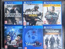 PS4 Yakuza COD Modern Warfare WW2 WWII Witcher Tom Clancy Playstation