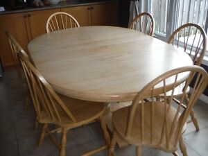 Custom Oak Dining Set