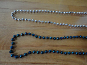 Brand new set of 2 blue and silver beaded necklace London Ontario image 4