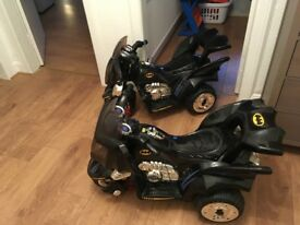 2 Kids Batman Electric Motorbikes