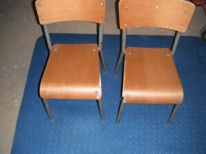 Chairs - Two Children's Wood and Metal Chairs