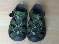 Kid's KEEN Sandal, Green, Size 12, EXCELLENT Condition