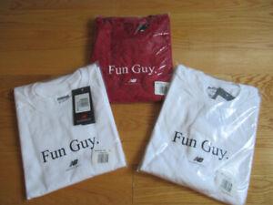 Official New Balance Kawhi Leonard Fun Guy T-Shirt Red White XL