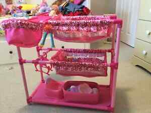Dolly Bunkbed with high chairs and table + accessories