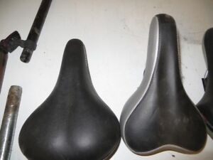 ASSORTED MOUNTAIN BIKE SEATS AND STEMS