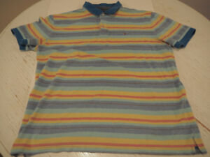 TOMMY HILFIGER Men's XXL Stripe Polo Shirt