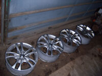 "16 x 7"" Sacchi S2 Silver Alloy Wheels, Multi-fit Great Condition"