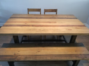 6 Seat Reclaimed Wood Dining Table
