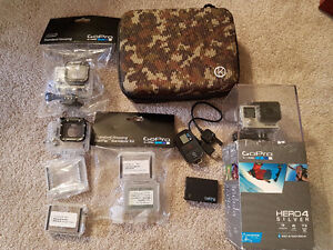 Ultimate GoPro bundle -BRAND NEW - Hero 4 Silver +tons of access