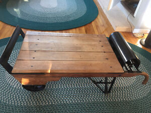 Antique weigh scale coffee table