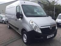 60 VAUXHALL MOVANO 2.3 CDTI L3 H2 LWB IN SILVER LOW MILE FOR YEAR NO VAT NEW MOT