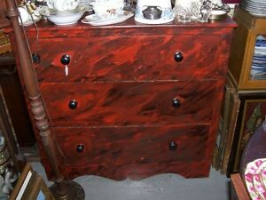 Antique 1800's 3 drawer Dresser