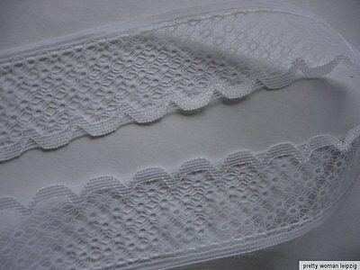 10m Wäschespitze 0,45€/m weiß 3,2cm breit  TA93