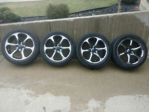 "20"" Smoke Chrome Wheels and Tires (6x127mm or 6x5 bolt pattern)"