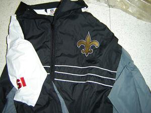 WINDBREAKER: light,si, NFL,saints,size XXL.price update feb 2015