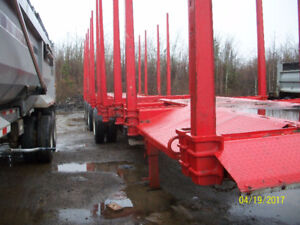Timmins 4 axles log trailer