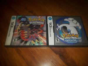 Pokemon Soul Silver and Pokemon Platinum