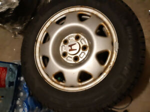 Michelin Winter tires/Rims 195/65 R15, Barely used.