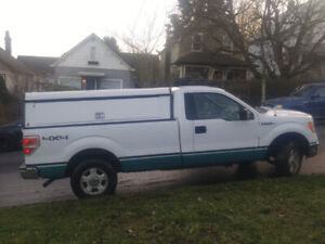 2013 Ford 150 XLT, 4WD, canopy, $8900
