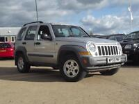 Jeep Cherokee 2.8 CRD Sport 2006 SILVER, ONLY 64,000 MILES,