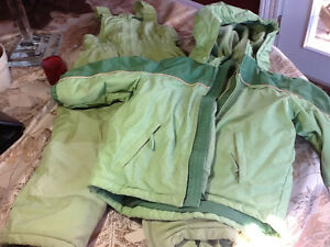 4T green children's place snowsuit