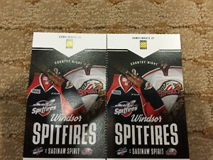 2 spitfire tickets for tomorrow 7:05