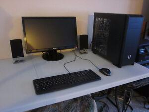"""GAMING PC (6-CORE, 8GB RAM, 2TB HDD, 4GB GPU, 22"""" Monitor etc)"""