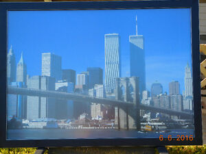 "Iconic TWIN TOWERS, New York (36"" X26"") Rare"
