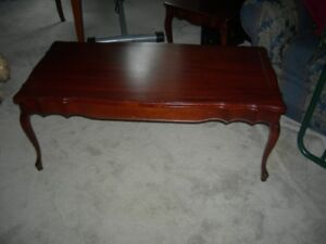 Coffee table and matching end table set