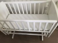 Mothercare gliding /rocking crib