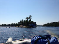Private Island with Cottage and Bunkie