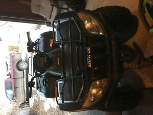 Awesome quad for sale with snow plough