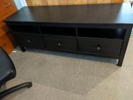 Ikea Dark Wood Hemnes TV Stand with 3 Drawers