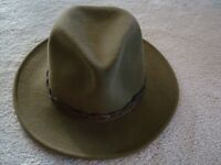 "TILLEY ""MONTANA"" BROWN WINTER HAT.  MEN'S SIZE: 7 3/8"