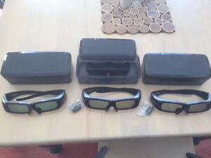 Panasonic TY-EW3D2M 3D active shutter glasses with hard cases