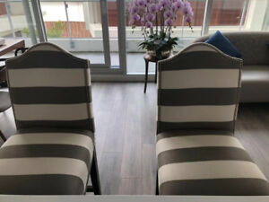 High-end 99% New Bar Chairs/Stools (Pair)