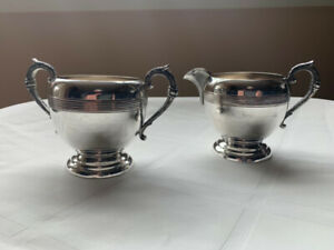 Birks Silver Plated Creamer and Sugar containers
