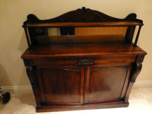 Antique 1850 Regency Rosewood Sideboard
